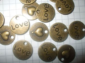 Bronze 'LOVE' Charms